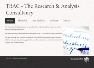 Screenshot of the TRAC website.