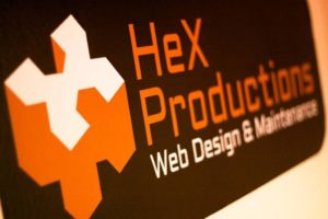 HeX Productions logo.
