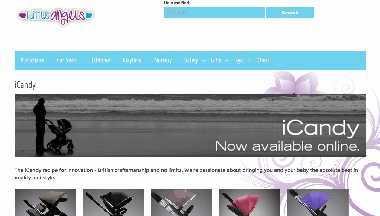 Screenshot Little Angels website