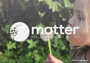 Example logo design showing a young girl blowing a Dandelion