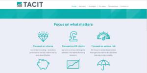 Tacit website homepage