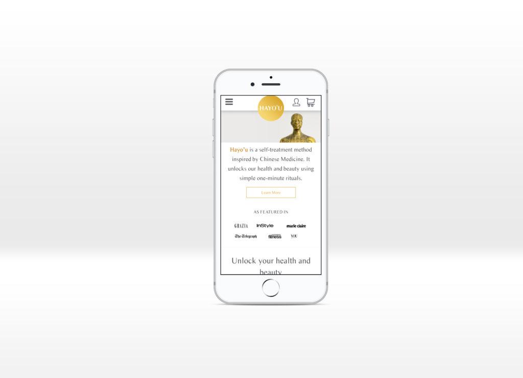 Hayo'u Method Home page displayed on an iPhone