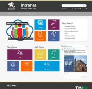 Image of the RBC intranet homepage