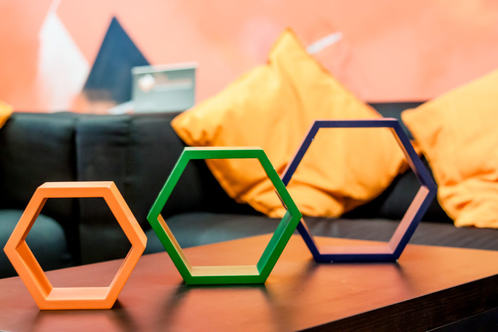 Decorative image - displaying some hexagons