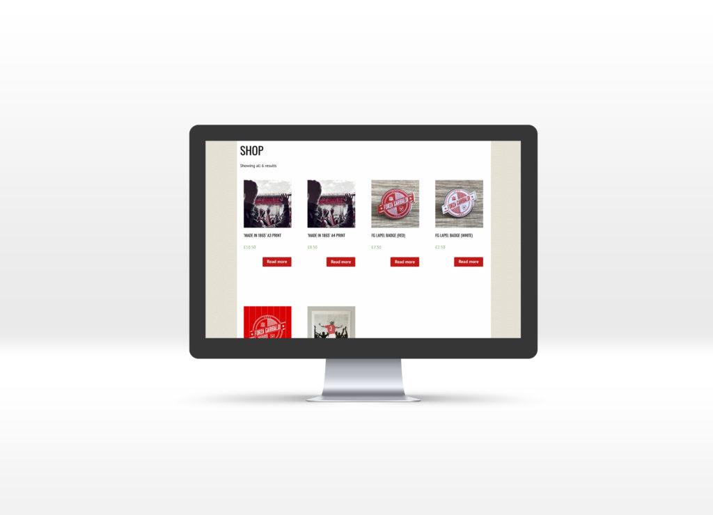 Forza Garibaldi Shop page displayed on an iMac