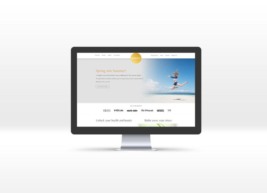 Hayo'u Method homepage displayed on a Mac desktop computer