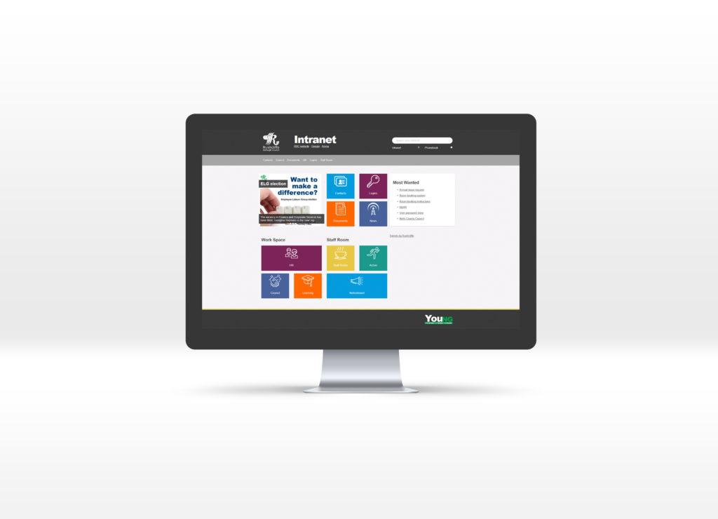 RBC intranet homepage displayed on a desktop Mac