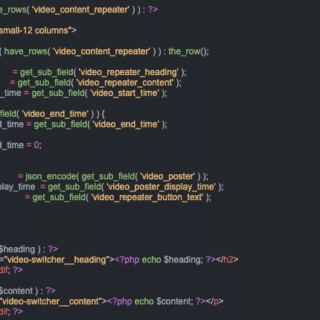actual code from the feature