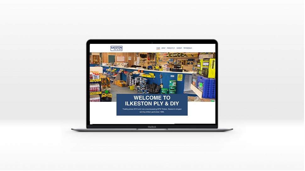 ilkeston ply website on a laptop screen